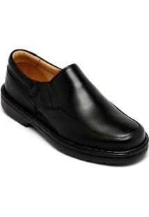 Sapato Conforto Couro Pipper Antitensor - Masculino - Masculino-Preto