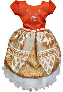 Vestido De Festa Temático Moana 1 Ao 6