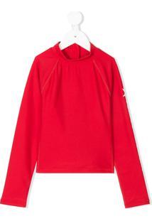 Perfect Moment Kids Blusa Esportiva Com Logo - Vermelho