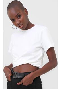 Camiseta Cropped Colcci Torã§Ã£O Off-White - Off White - Feminino - Algodã£O - Dafiti