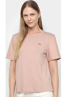 Camiseta Lança Perfume Básica Feminina - Feminino-Bege