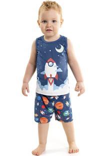 Pijama Tileesul Menino Azul