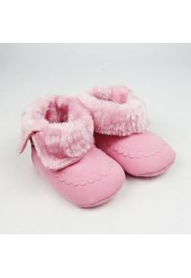 Bota Bebê Pelúcia - Feminino-Rosa