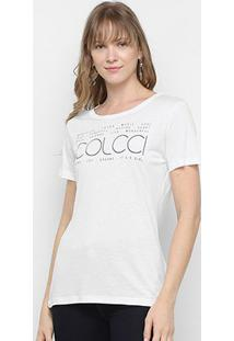 Camiseta Colcci It'S A Girl Feminina - Feminino-Branco