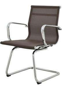 Cadeira Sevilha Eames Fixa Cromada Tela Cafe - 38071 - Sun House