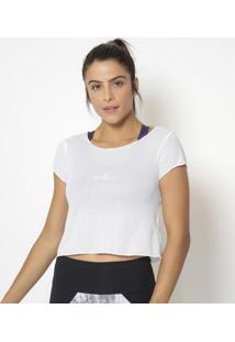 Blusa Cropped Em Tela- Branca- Physical Fitnessphysical Fitness