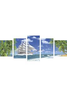 Quadro Decorativo Na Praia