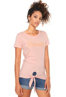 Camiseta Hurley Hawaii Rosa