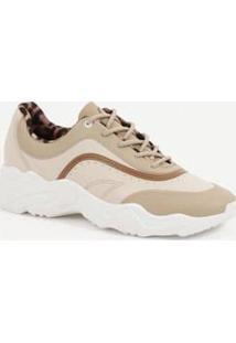 Tênis Feminino Chunky Sneaker Recorte Moleca