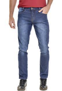 Calça Jeans Lemier Collection Slim Fit Recorte No Bolso
