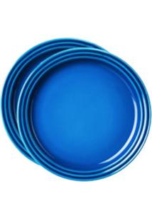 Prato Sobremesa 2 Peças 15 Cm Azul Marseille Le Creuset