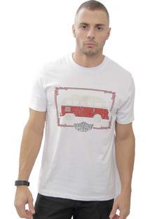 Camiseta Cheiro De Gasolina Kombi Good Times Branca
