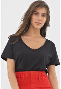 Camiseta Forum Lisa Preta - Preto - Feminino - Algodã£O - Dafiti