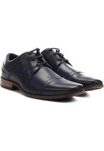 Sapato Social Couro Ferracini Derby - Masculino-Marinho