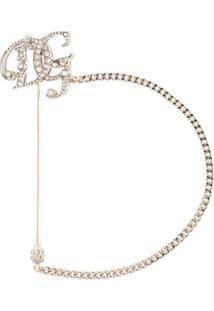 Dolce & Gabbana Broche Com Aplicação De Cristais - Prateado