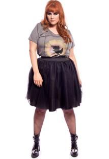T-Shirt Vintage And Cats Cavalo Alado Inspiration Plus Size Cinza