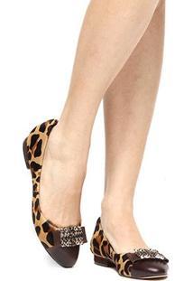 Sapatilha Couro Shoestock Pedras Feminina - Feminino