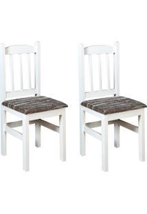 Conjunto Com 2 Cadeiras Di Marzio Branca E Cinza