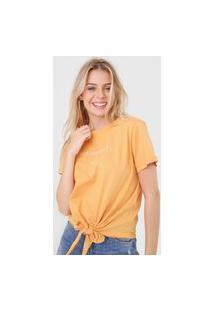 Camiseta Colcci Sustainability Laranja