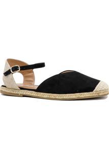 Sandália Zariff Shoes Rasteira Espadrille Preto