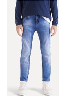 Calça Jeans Infantil Reserva Mini Sm Basic Clear Masculina - Masculino-Azul Escuro