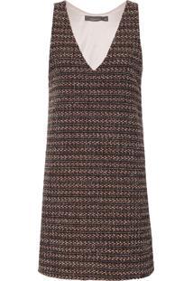 Vestido Lã Tweed - Vinho