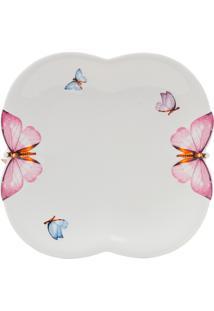 Conjunto 6 Pratos De Porcelana Para Sobremesa Wolff 19Cm – Linha Borboletas