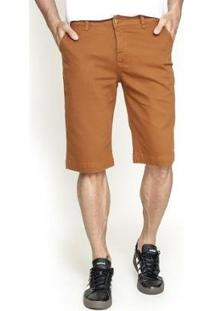 Bermuda Sarja Lemier Collection Slim Color Get Fashion Masculina - Masculino-Caramelo