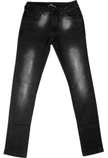 Calça Jeans Infantil Oznes Menino Preto - 10