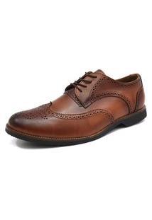 Sapato Social Tradicional Oxford Florao G.S. 6900 Whisky