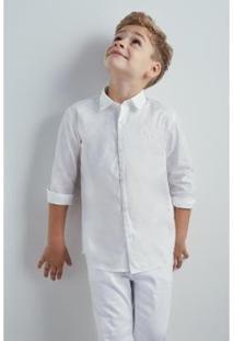 Camisa Mini Pf Tec Lago Reserva Mini Masculina - Masculino-Branco