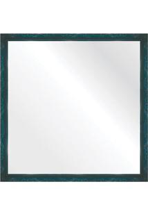 Espelho Brilho Rococo Azul 56X56Cm
