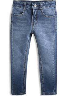 Calça Jeans Hering Kids Menino Lisa Azul