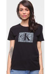 Camiseta Básica Calvin Klein Manga Curta Feminina - Feminino
