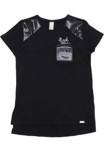 Camiseta Dimy Candy Menina Outras Preta