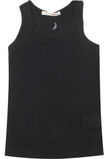 Camiseta Reserva Mini Menina Liso Preto