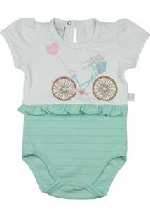 Body Infantil Cotton E Malha Trabalhada Binny Bicicleta Ano Zero Feminina - Feminino
