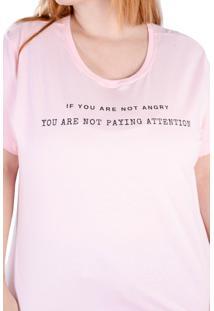 Camiseta Rosa Angry (, Gg)