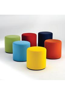 Puff Visiona Base Disco Mdf Ebanizado Studio Mais Design By Verner Panton