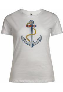 Camiseta Pau A Pique Básica Branco Com Silk