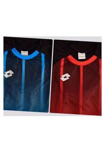 Kit De 2 Camisas Lotto Stripes Azul E Vermelha