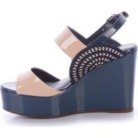 0c4718f68 Sandália Azul Nude feminina   Shoes4you