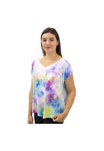 Camiseta Feminina Estampa Tie Dye Dora Bella Lilás