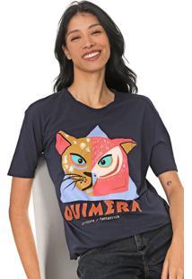 Camiseta Cantão Quimera Azul-Marinho