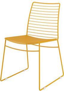 Cadeira 1712 Cor Amarela Com Assento Courissimo Amarelo - 26426 - Sun House