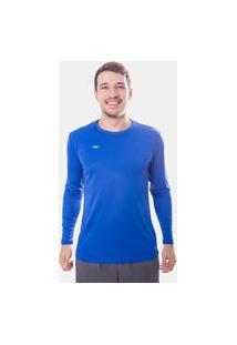 Camisa Térmica Penalty Matis 2 Ix Uv Manga Longa Azul