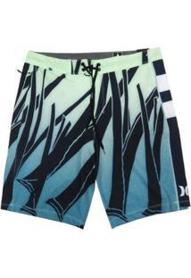 "Bermuda Água Hurley Phantom Jjf Sig Zane 20"" Masculina - Masculino-Azul+Verde"