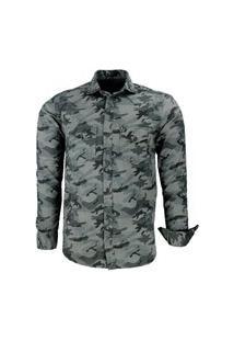 Camisa Amil Solo Confort Camuflada Vista Militar Com Bolsos