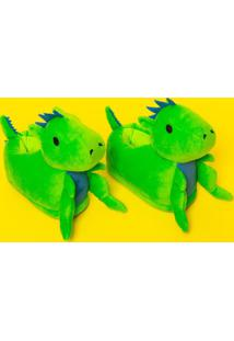 Pantufa Dino - Verde & Azulpuket