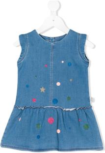 Little Marc Jacobs Vestido Jeans Com Estampa - Azul 58dbf7bb20